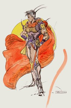 Week 2 - Final Fantasy II - Concept Art Monday - Firion ffcompendium.com