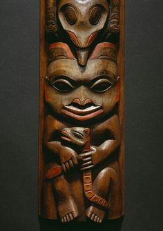 Detail from Scott Jensen bear shaman model totem pole