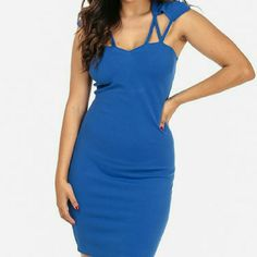 Strappy Textured Bodycon Dress Stretchy Bodycon dress with sweetheart neckline is sleeveless, has spaghetti shoulder straps meeting on the back, elastic band on upper back, and hidden zipper for closure on back. . Made of: 100% Polyester. Dresses Mini