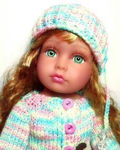 "American doll Doll 16"" knitting"