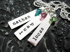 Personalized Necklace - Hand Stamped Jewelry by BragAboutIt