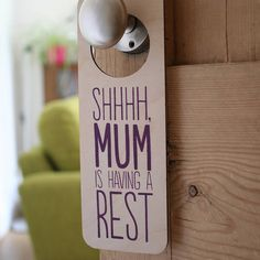 I've just found Personalised Door Hanger For Her. This cute screen printed wooden door hanger would make a great personalised gift for any mum, sister, daughter, auntie, best friend or grandmother out there.. £15.00
