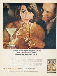 1964 Bacardi Rum Vintage Ad Mid Woman Drinking by AdVintageCom
