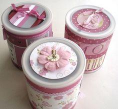 latas decorados com croche - Pesquisa Google