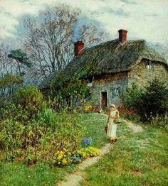The Athenaeum - A Cottage at Bothenhampton,Dorset (Helen Allingham - No dates listed)