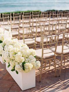 Hydrangea. Nisie's Enchanted Florist. Photography: lane Dittoe fine art wedding photographs - lanedittoe.com  Read More: http://www.stylemepretty.com/2013/12/18/santa-barbara-seaside-wedding/