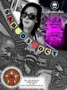 Hoy Sábado, 22:00, Dj KATHARSIS & NMT Dj Set presentan 'Dei's Bday Party' & '3º Aniversario NMT'