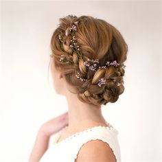 How to braided flower updo