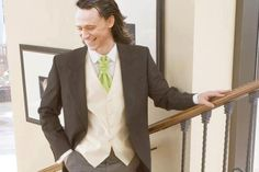 Umm... Loki/Tom looks like he's at a wedding. Not the groom, definitely the Best Man. He would not be able to handle this bridesmaid.