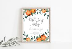 Don't Say Baby Game Sign Printable, Citrus Baby Shower Games, Clothes Pin Game, A little Cutie Shower Decor, Instant Download, P47 Bubbly Bar, Champagne Bar, Bridal Shower Signs, Baby Shower Signs, Dont Say Baby Game, Mimosa Bar Sign, Simple Prints, Party Signs, Etsy App