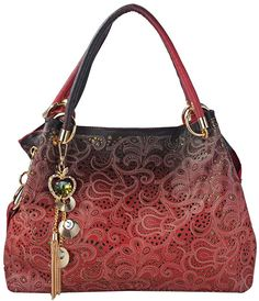 Tinksky Classic Fashion Tote Handbag Leather Shoulder Bag Perfect Large Tote Ls1193 (red)