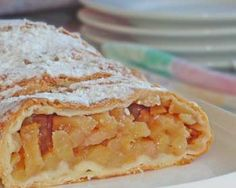 The easy German Apple Strudel recipe, aka Apfelstrudel, is one of the quick easy dessert recipes. It brings the traditional strudel taste to your table without all the work. German Desserts, Apple Desserts, Apple Recipes, Just Desserts, Cake Recipes, Dessert Recipes, German Recipes, Austrian Recipes, Croatian Recipes