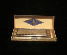 Vintage Harmonica Hohner Harmonica Chromonica Harmonica Key Of C Vintage Harp 1930s German Harmonica Hohner Chromatic Original Box