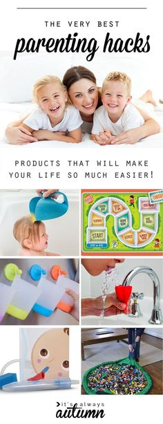 These are genius! The best parenting hacks - products that will make your life with kids SO MUCH EASIER! I wish I'd had some of these when my kids were little.