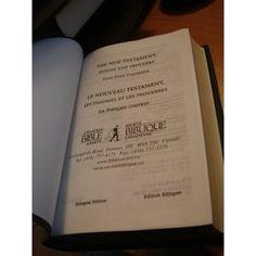 English and French New Testament, Psalms and Proverbs / Le Nouveau Testament, LImitates Psaumes Et Les Proverbes - Bilingual Edition / Edition Bilingue - Golden Edges, PVC nice cover