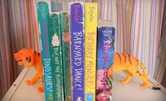 dollar store toy bookends, crafts