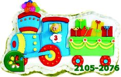 Wilton item number 2105-2076. Visit www.GalesWholesale.com for more information. Train Shape Pan - 14x 7.25 x 2in d. When this train pulls up at the party, everyone will want to get on board! Load the locomotive with delicious cargo like candy and cookies, then create a personalized compartment for the guest of honor