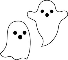 Cute Ghost Clipart Simple Spooky Halloween Ghosts Free Clip Art - Name Tag Clipart Spooky Halloween, Halloween Sounds, Halloween Decorations For Kids, Halloween Tattoo, Halloween Clipart, Halloween Drawings, Halloween Pictures, Halloween Crafts, Halloween Design