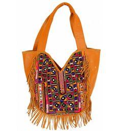5479343935 Indian Cotton Handmade Gypsy Banjara Suede Leather Shoulder Bag