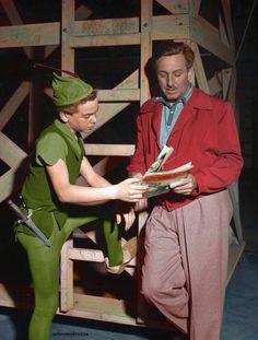 Bobby Driscoll with Walt Disney.