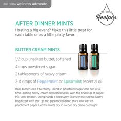 after dinner mints- Join me on facebook to learn more! There are so many great ways essential oils can make life better!!  https://www.facebook.com/groups/845990245491203/
