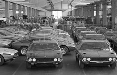 Lamborghini Factory, Golden Age, Classic Cars, Exotic, Classy, Black And White, Lifestyle, Vehicles, Europe