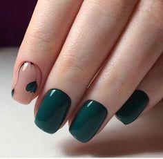 76 nail art designs that are so perfect for summer 13 Hot Nails, Hair And Nails, Gelish Nails, Manicure E Pedicure, Green Nails, Winter Nails, Trendy Nails, Nails Inspiration, Life Inspiration