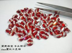 multicolor cz. red and white, the classic match. from Jianjie GEMS. http://jianjiezhubao.1688.com