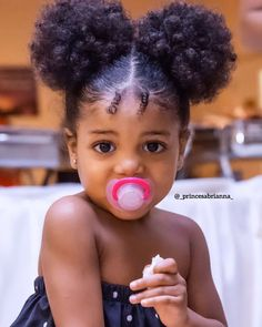 😍 - featured on 👑 - - - For a featur Cute Black Babies, Black Baby Girls, Beautiful Black Babies, Cute Baby Girl, Beautiful Children, Lil Girl Hairstyles, Girls Natural Hairstyles, Natural Hair Styles, Mixed Baby Hairstyles