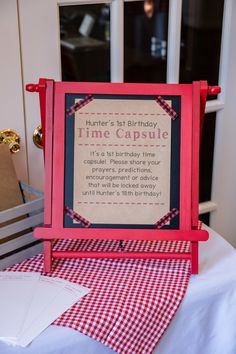 Time capsule...obviously different theme