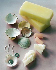 Shell Candles - Martha Stewart Crafts