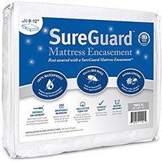 Twin XL (9-12 in. Deep) SureGuard Mattress Encasement - 100% Waterproof, Bed Bug Proof, Hypoallergenic - Premium Zippered Six-Sided Cover - 10 Year Warranty