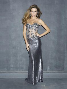 Sliver Prom Dress Ballroom