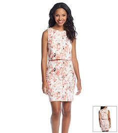 Ivanka Trump® Blurred Floral Popover Dress | Carson's