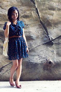 Polka Dress at www.ohhellofriendblog.com