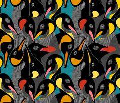 Penguins fabric - rubydoor - Spoonflower
