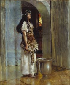 Sir Lawrence Alma-Tadema, A Priestess of Apollo ?c.1888