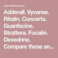 Compare these and other ADHD medications in our comprehensive chart showing stimulant and nonstimulant drugs used to treat attention deficit disorder. Aspergers Autism, Adhd And Autism, Adhd Odd, Adhd Medicine, Adhd Test, Adhd Facts, Adhd Medication, Adhd Brain, Psychology