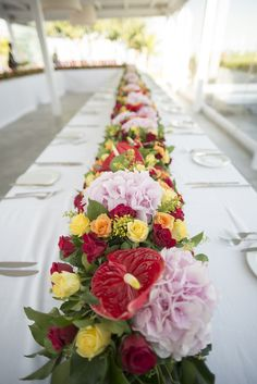 Colorful flowers for wedding table decoration. What you think?    Wedding Planning by @weddingingreece  #destinationwedding #weddingplanner #weddingplannergreece