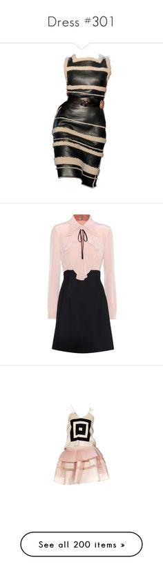 """Dress #301"" by bliznec-anna ❤ liked on Polyvore featuring dresses, платья, rodarte dress, rodarte, vestidos, pink, miu miu dress, crepe dress, pink dress and silk dress"