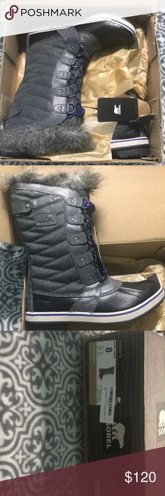 Sorel tofino II snow boots Sorel tofino II dark fog/ Bruce obscure  snow boots size 8 brand new with tags never worn waterproof. Selling on amazon currently for 170 in limited sizes Sorel Shoes Winter & Rain Boots