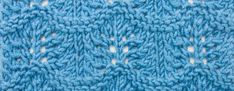 The Crest of the Wave Lace Stitch :: Knitting Stitch -- This classic Shetland lace pattern is a breeze to knit. With it's beautiful scalloped edges, it's a great way to edge a piece. It would work great on a shawl, cardigan, or a lacy skirt. Lace Knitting Stitches, Knitting Patterns Free, Hand Knitting, Lace Patterns, Stitch Patterns, Crochet Patterns, Bead Crochet, Crochet Hooks, Crochet Machine