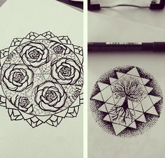 Hannah Snowdon geometric rose, absolutely freakin love.