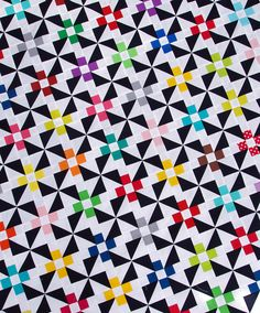Pinwheels and Daisies Quilt Pattern pdf file by redpepperquilts