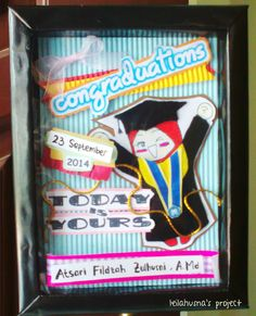 Graduation Box (using styrofoam frame handmade)