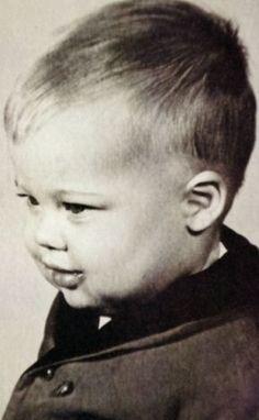 A childhood/baby photo of Brad Pitt. http://celebrity-childhood-photos.tumblr.com/