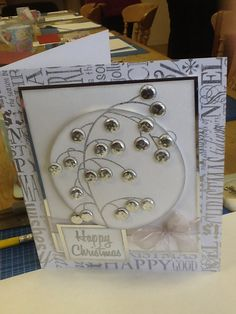 Woodware Bubble Tree, Bubble Christmas, Craftwork Cards, All That Glitters, Christmas Cards, Christmas Tree, Homemade Cards, Making Ideas, Bubbles