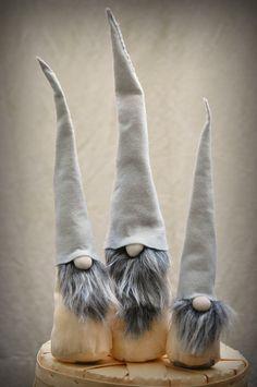 Scandinavian Grey Elf Gnome set of 3 http://www.kupon.pl/promocje/boze-narodzenie-2014   #święta