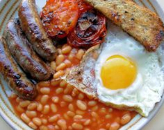 No matter how hungry you are in the morning an English breakfast will fix you right up.