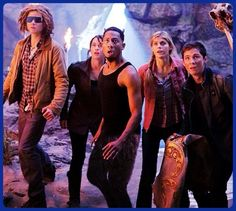 Tyson, Clarisse, Grover, Annabeth, and Percy.Love them!!;-)